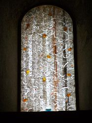 Vitrail du Duomo de Cefalu, Sicile. Maitre verrier palermois Michele Canzonieri