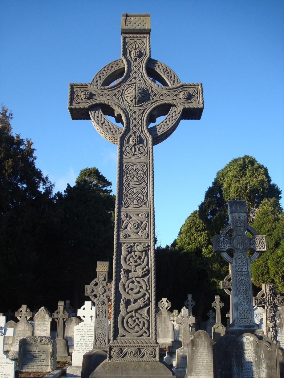 Croix celte irlandaise, XIXsDeans_Grange_Cemetery