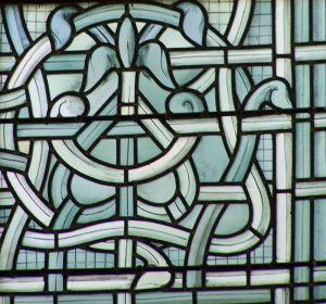 Vitrail du chœur de l'église de l'abbaye de Jouarre