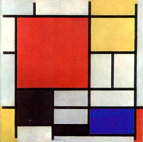 compo rouge jaune bleu et noir