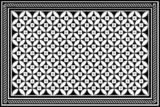 mosaique gallo-romaine_Jardin Vincent, 4F_relevé