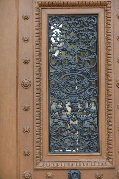 Tapis d entrelacs, place Franz Liszt, grille, Paris_PETITE